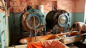 Szpitalna pralnia na Ukrainie