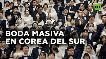 Zbiorowy ślub tysięcy par w Korei Południowej