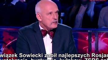 Korwin daje Rosjanom lekcję historii w rosyjskiej telewizji