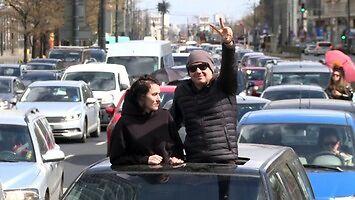 Samochodowy protest kobiet przeciwko projektowi zakazu aborcji