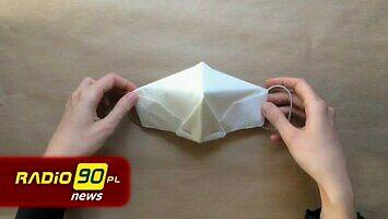 Maseczka bez szycia, maseczka jak origami