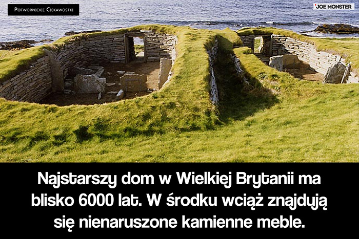 Najstarszy dom w Wielkiej Brytanii ma blisko 6000 lat. W środku wciąż znajdują się nienaruszone kamienne meble.