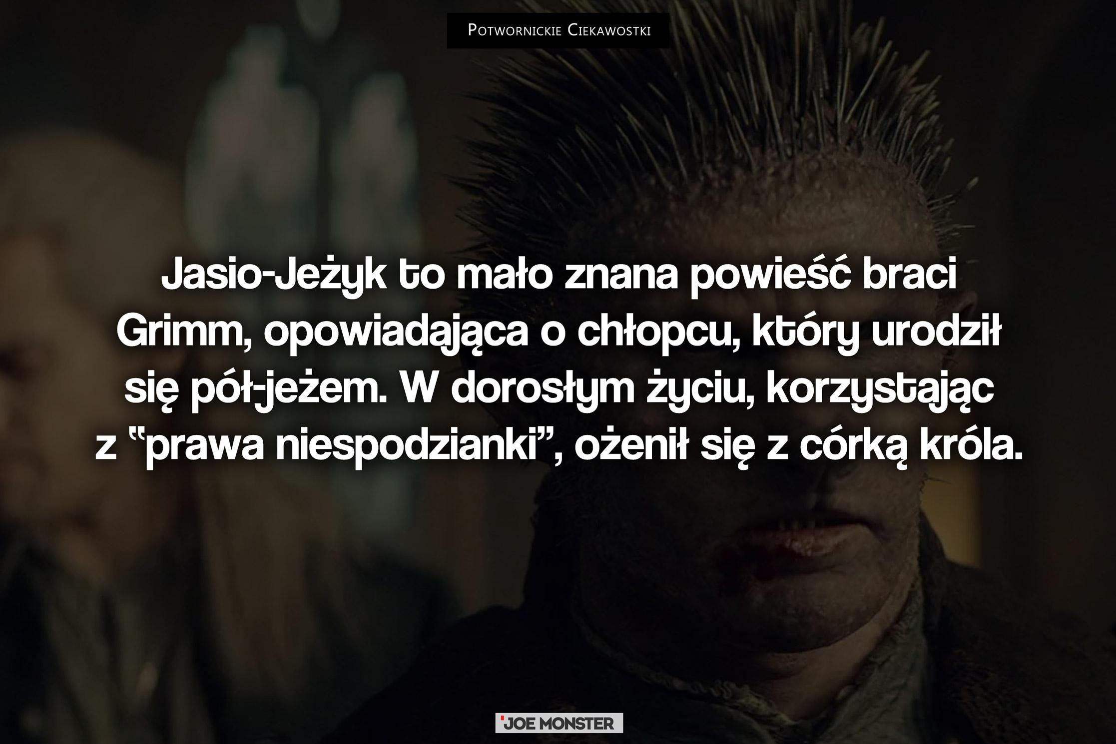 Jasio-Jeżyk to mało znana powieść braci Grimm, opowiadająca o chłopcu, który urodził się pół-jeżem.