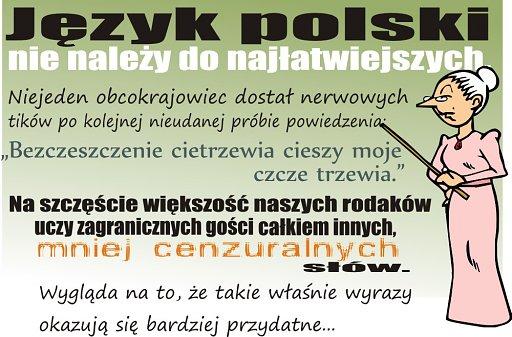 O tym jak trudno nauczyć się języka polskiego, oraz o jokerach, które w nim występują