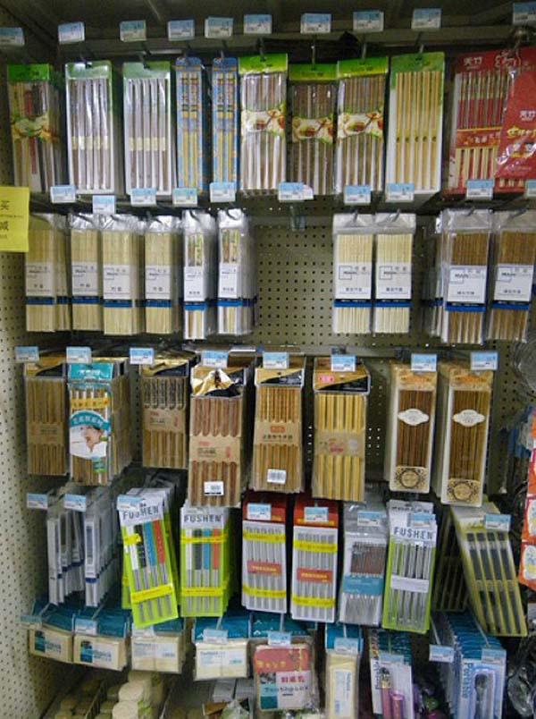 11.) More chopsticks than you could ever imagine