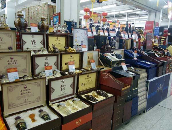 9.) Boxes of liquor