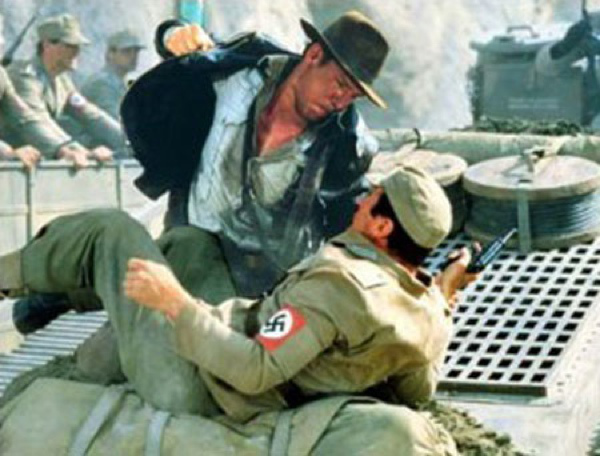 Indiana Jones beats a Nazi
