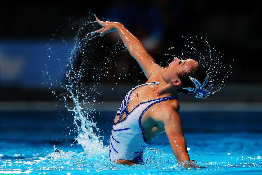 pływanie synchronicznie solo