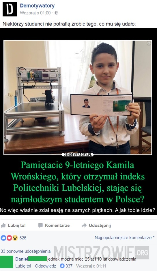 Najmłodszy student –