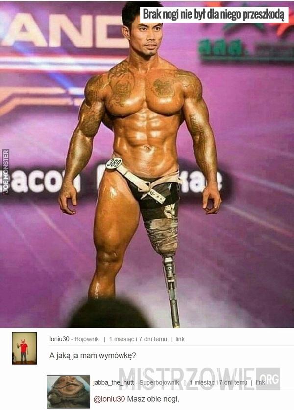 Brak nogi nie był dla niego przeszkodą –