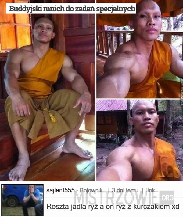 Buddyjski mnich do zadań specjalnych –