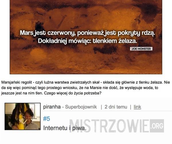 Mars jest czerwony –
