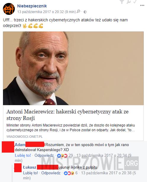 Atak cybernetyczny –