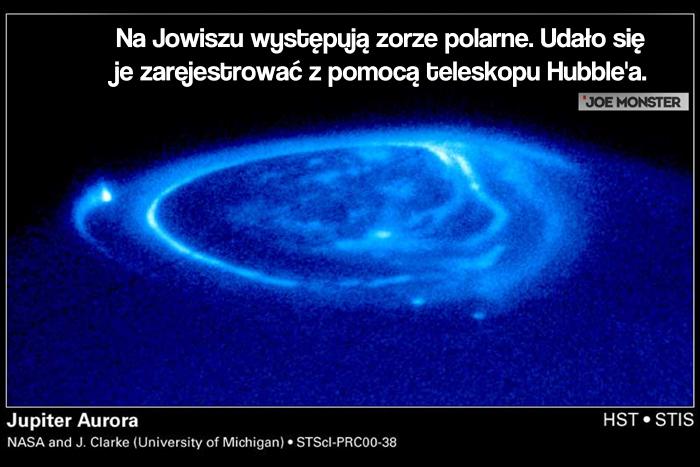 Na Jowiszu występują zorze polarne. Udało się je zarejestrować z pomocą teleskopu Hubble