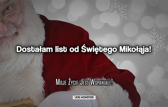 Dostałam list od Świętego Mikołaja!