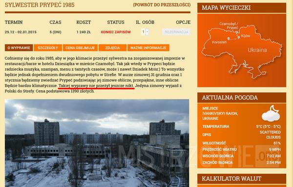 Sylwester w Czarnobylu –