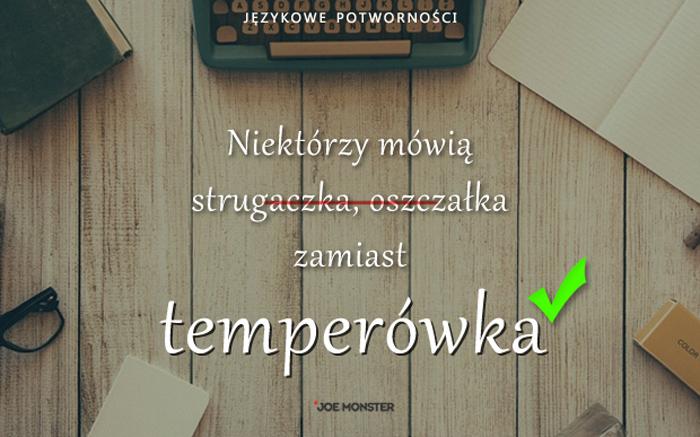 Językowe potworności Joe Monstera - Temperówka