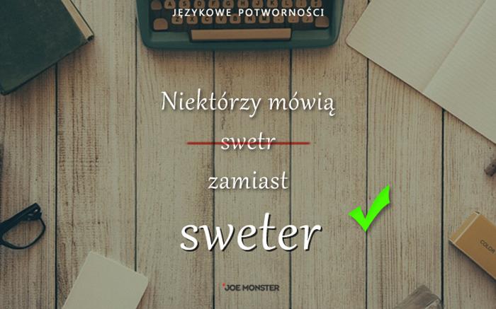 Językowe potworności Joe Monstera - Sweter