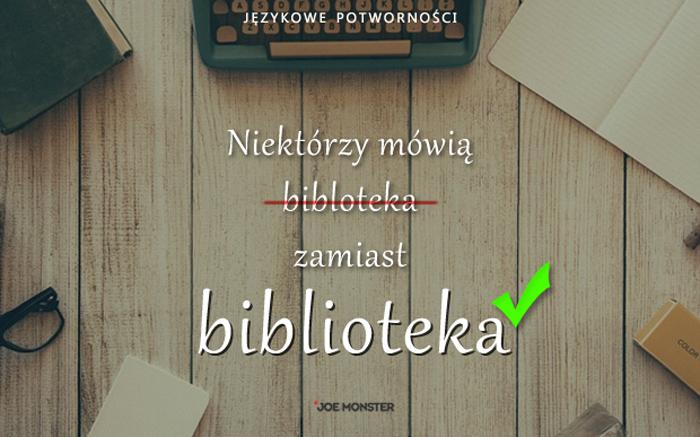 Językowe potworności Joe Monstera - Biblioteka