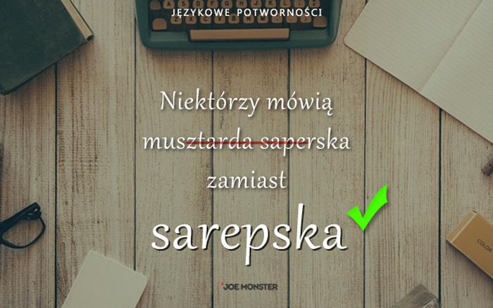 Językowe potworności Joe Monstera - Musztarda sarepska
