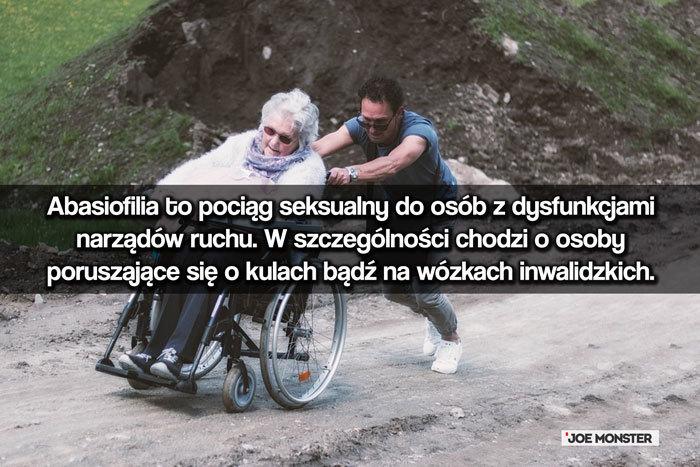Abasiofilia to pociąg seksualny do osób z dysfunkcjami narządów ruchu. W szczególności chodzi o osoby poruszające się o kulach bądź na wózkach inwalidzkich.
