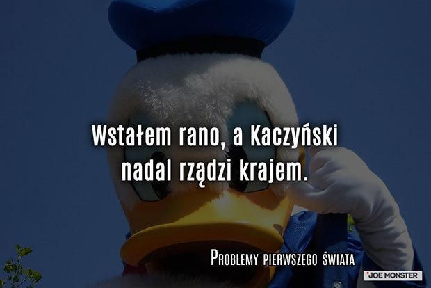 Wstałem rano, a Kaczyński nadal rządzi krajem.