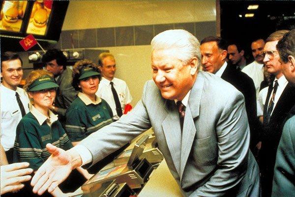 Otwarcie pierwszego w Rosji McDonalda - Joe Monster