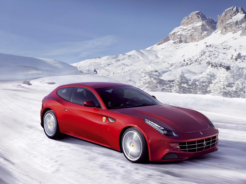 Znalezione obrazy dla zapytania Ferrari FF red snow
