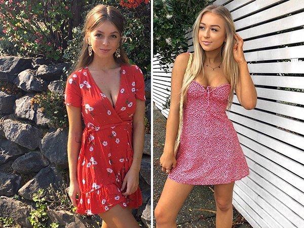 Dziewczyny w letnich sukienkach