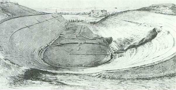 Stadion Panateński w 1870 roku