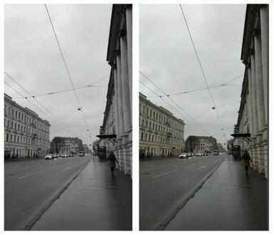 Petersburg zimą - zdjęcie czarno-białe vs zdjęcie kolorowe