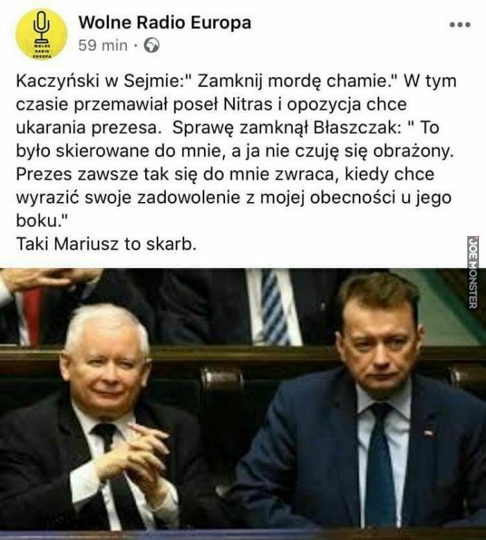 """kaczyński w sejmie: """"zamknij mordę chamie"""""""