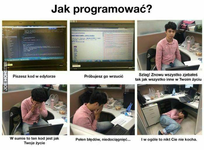 jak programować piszesz kod w edytorze