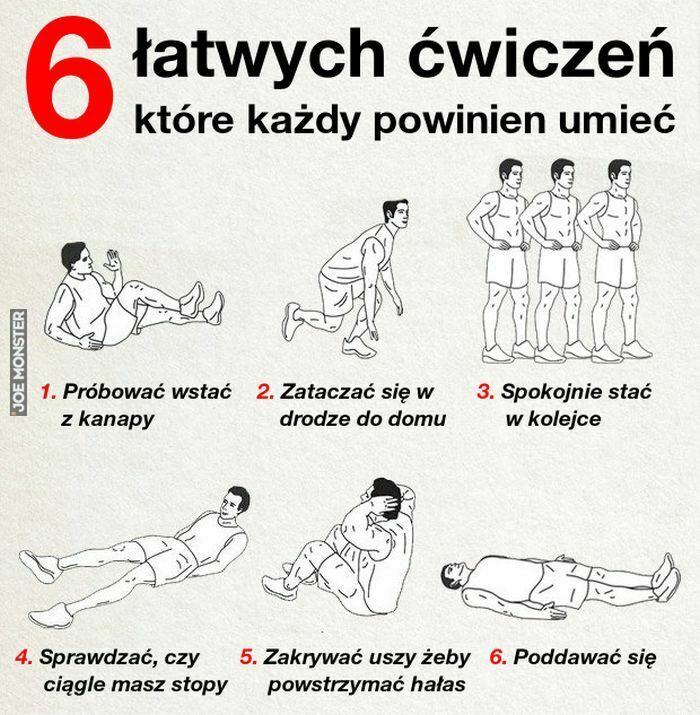 6 łatwych ćwiczeń które każdy powinien umieć