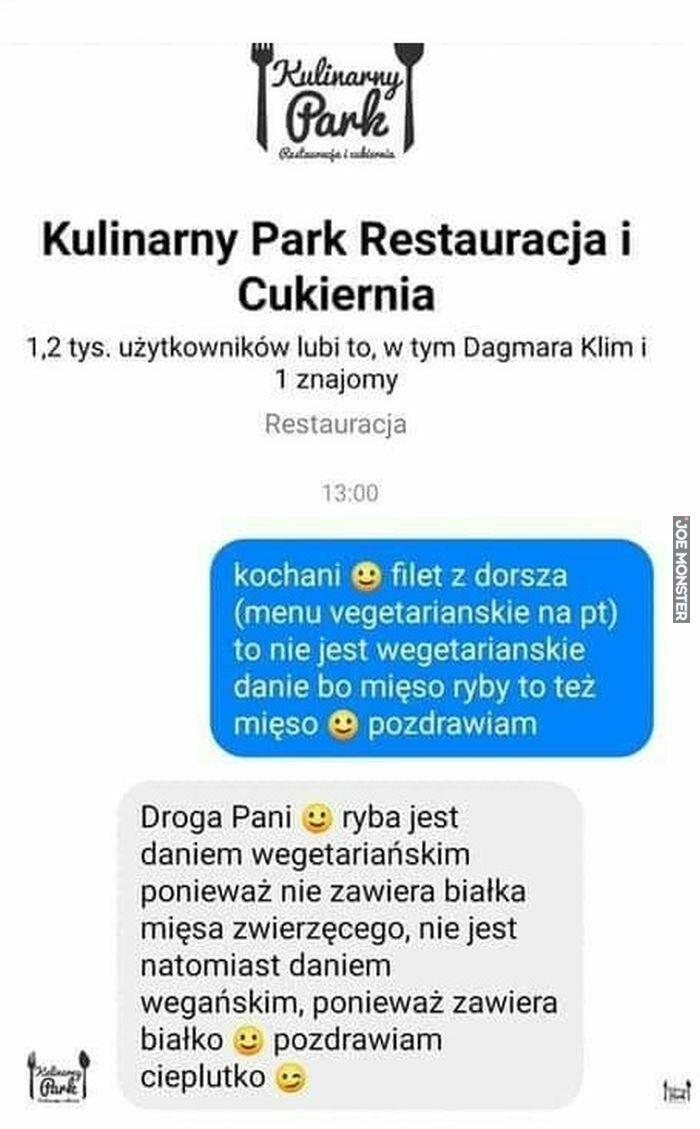 kulinarny park restauracja i cukiernia kochani filet z dorsza menu wegetariańskie na pt
