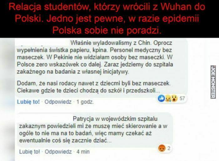 relacja studentów którzy wrócili z wuhan do polski jedno jest pewne w razie epidemii polska sobie nie poradzi