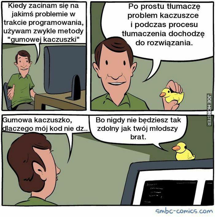 kiedy zacinam się na jakimś problemie w trakcie programowania