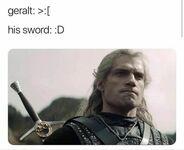 Geralt i jego miecz