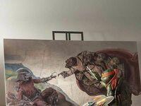 Michelangelo przy pracy