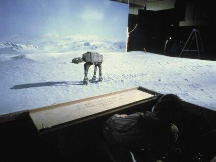 """Kręcenie bitwy na Hoth w """"Imperium Kontratakuje"""""""