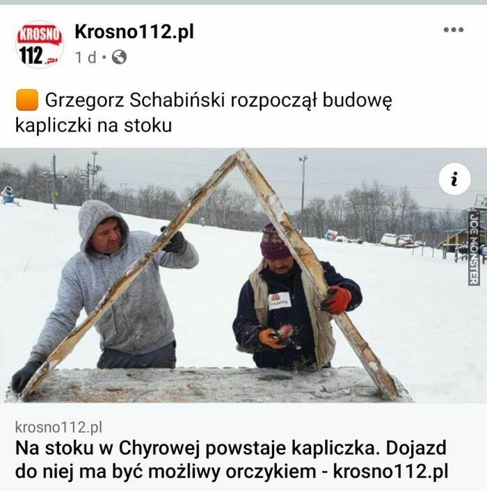 grzegorz schabiński rozpoczął budowę