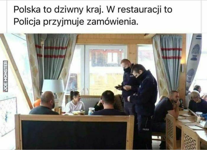 polska to dziwny kraj w restauracji