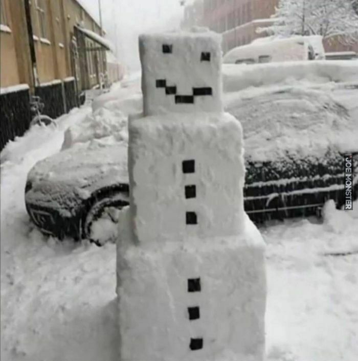 Minecraftowy bałwan
