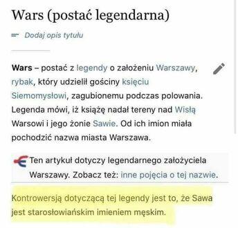 Wars i Sawa - historia kontrowersyjna