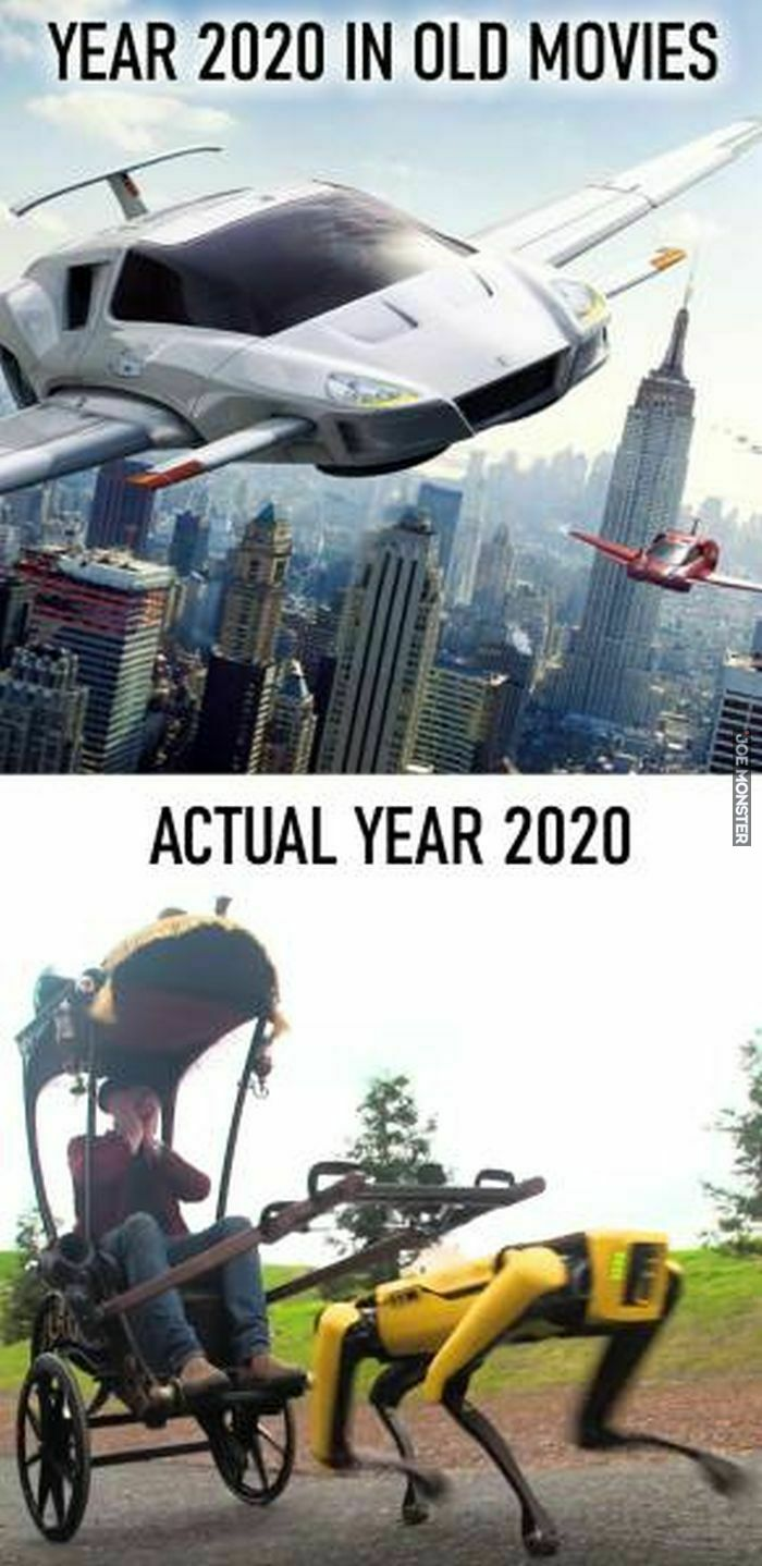 year 2020 in old movies