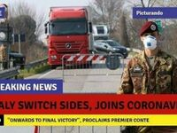 Włochy zmieniły stronę i przyłączyły się do koronawirusa