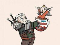 Geralt i dziecko niespodzianka