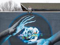 Niesamowity mural