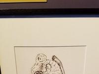 Oryginalny rysunek Cthulhu wykonany przez H.P. Lovecrafta