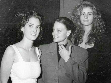 Winona Ryder, Jodie Foster i Julia Roberts w 1989 r.